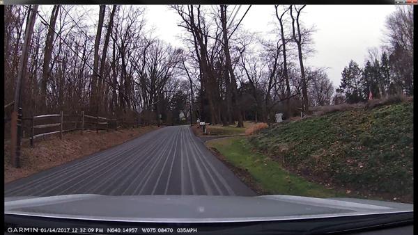 stripes on roadway