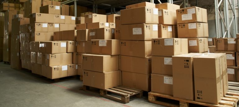 carton boxes in warehouse